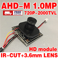 Hd 2000tvl ahdm 720 P Закончил Монитор мини-камера чип модуль видеонаблюдения 1.0Mp ИК 3.6 м Объектив кабель micro плате