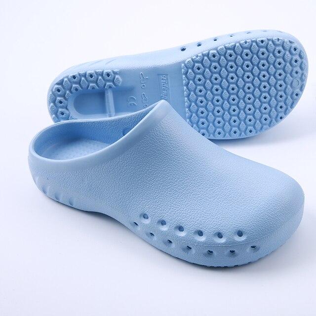 d4e688c19 القادمون الجدد أحذية الممرضات الطبية الطبية زلة الأحذية الواقية التشغيل  غرفة مختبر النعال العمل حذاء مسطح