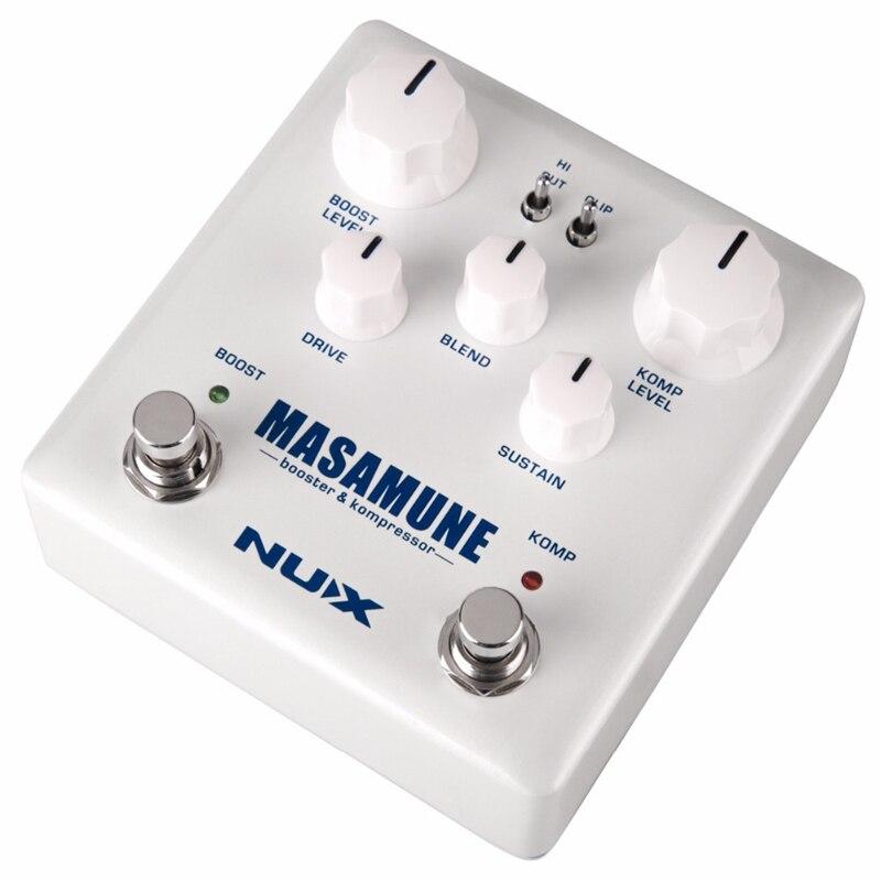 Nux guitare compresseur analogique et pédale Booster