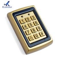 2Pcs Per Lot Golden Door Access Control Keypad Proximity RFID ID Card Large Capacity 8000Users Smart Door Controller RFID Reader