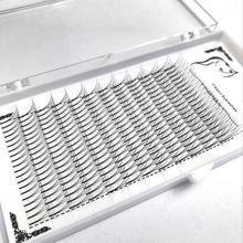 1 kutu büyük kapasiteli rus hacmi kirpik 3D kirpik uzantıları 0.07mm kalınlığında C D kıvırmak vizon şerit kirpikler bireysel Lashes