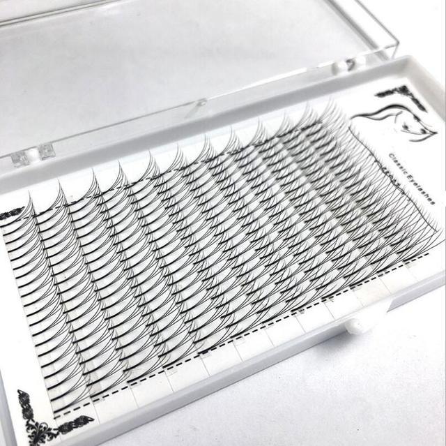 1box große kapazität Russische Volumen Wimpern 3D Wimpern Extensions 0,07mm Dicke C D wellung Nerz Streifen Wimpern Individuelle wimpern
