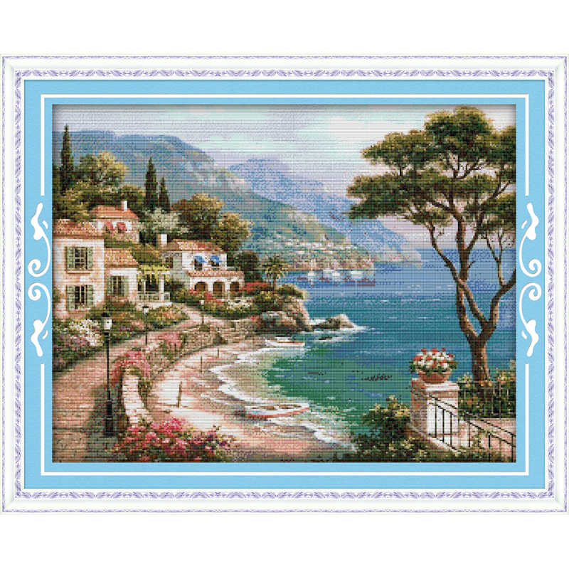 Everlasting love Harbor Of Love  Ecological cotton Cross Stitch  11 14CT stamped product  DIY gift new year decorations for home