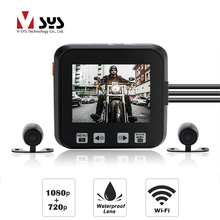 лучшая цена SYS M6 WiFi Motorcycle DVR with Waterproof 1080 + 720 lens Dual Motorcycle Camera Dash Cam System for Motorbike Scooter ATV UTV
