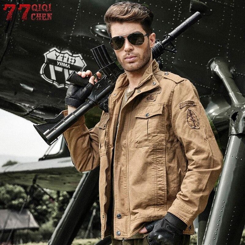 QIQICHEN Flight Jacket Air-Force Jaqueta Army Plus-Size Cotton Casual M-6XL Masculina