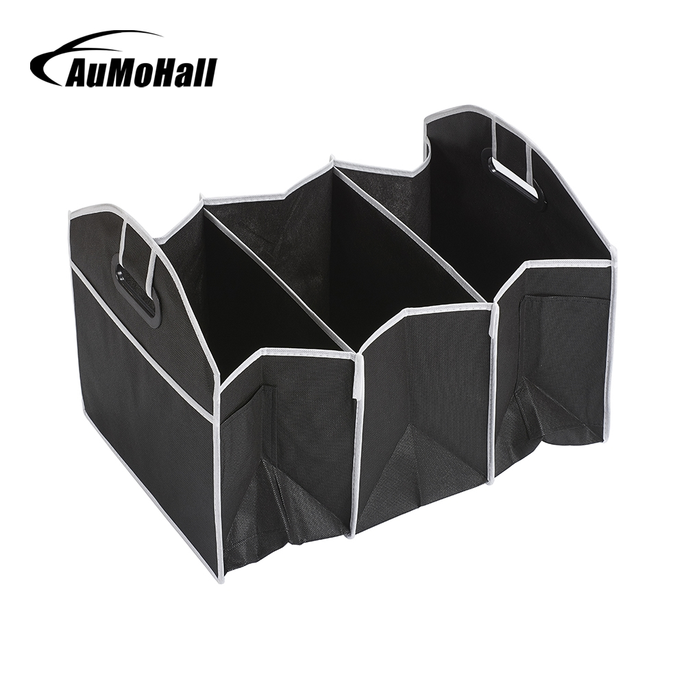 AuMoHall Car Multi-Pocket Organizer Large Capacity Folding Storage Bag Trunk Stowing And Tidying(China)