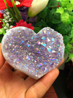 Natural crystal cluster angel halo crystal heart for family decoration healing crystal wedding decoration Christmas decoration