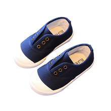 COZULMA Boys Classic Slip-on Canvas Shoes Kids Girls Spring Summer Fashion Sneakers Children Non-slip Casual Shoes Size 21-30 cozulma baby girls leopard canvas shoes boys fashion sneakers kids non slip casual shoes children lace up shoes size 21 30