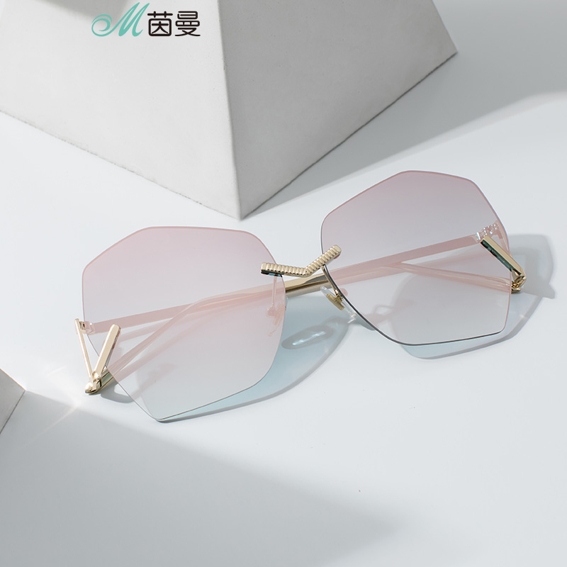 INMAN 2019 Metal Frame Light Silver Color Sexangle Shape UV Sunlight Protect Sunglasses