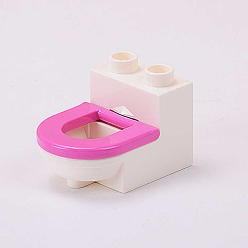 Blokowanie Duplo DIY części łóżko krzesło drzewo szuflady Pot klocki dla dzieci kompatybilny Duplos bloki prezenty dla dzieci