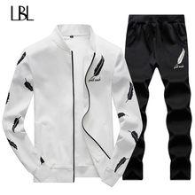3c6440b73546d6 Homens agasalho Conjunto de Roupas de Treino Crossfit 2018 Set Primavera  Verão Homens Treino Sportswear dos homens 2 peça Conjun.
