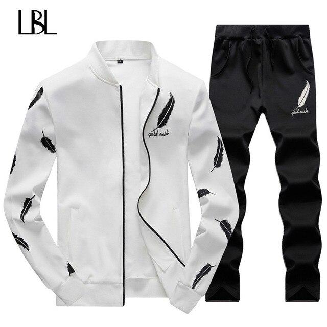 9b206a162bc Sweatsuit Men Clothing Tracksuit Set Crossfit 2018 Men s Set Spring Summer  Men Tracksuit Sportswear 2 Piece Set Suit Jacket+Pant