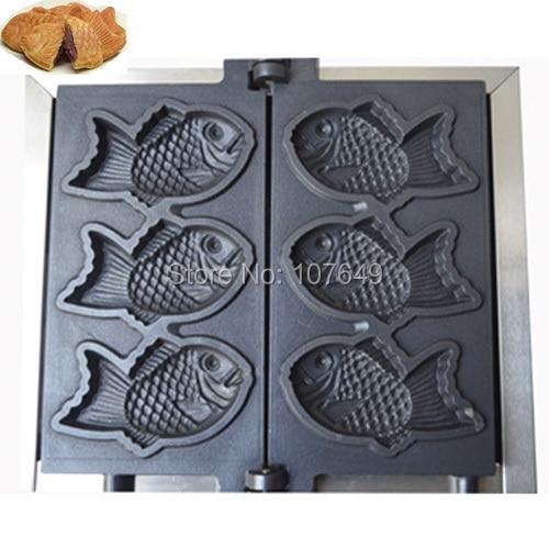 to USA/Canada/Japan/Mexico Commercial Use Electric 110v Fish Waffle Taiyaki Baker Maker Iron Machine
