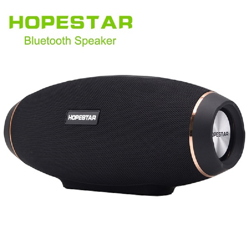 HOPESTAR H20 Wireless portable Bluetooth Speaker Rugby Outdoor Bass Effect with mic Power charge Bank For Mobile TV PC wireless bluetooth speaker led audio portable mini subwoofer