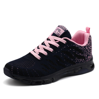 Brand Running Shoes Women 2018 Spring Summer Womens Sport Runners Breathable Jogging Sneakers Black Pink Gray Ladies Trainers