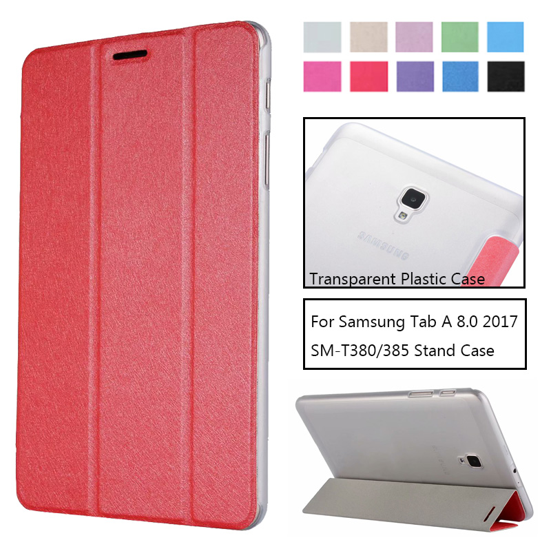 Flip-Case-Cover Tablet Galaxy Tab T380 T385 Samsung Slim-Stand PU For Tab-A