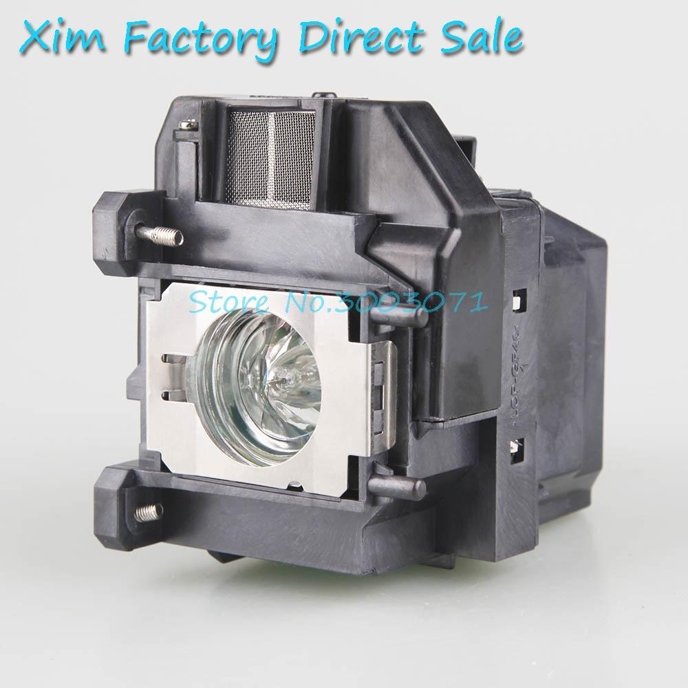 XIM lámpara de proyector con carcasa ELPLP67 para Epson EB-C30X/EB-S01/EB-S02/EB-S02H/EB-S11/EB-S12/ EB-TW480/EB-W01