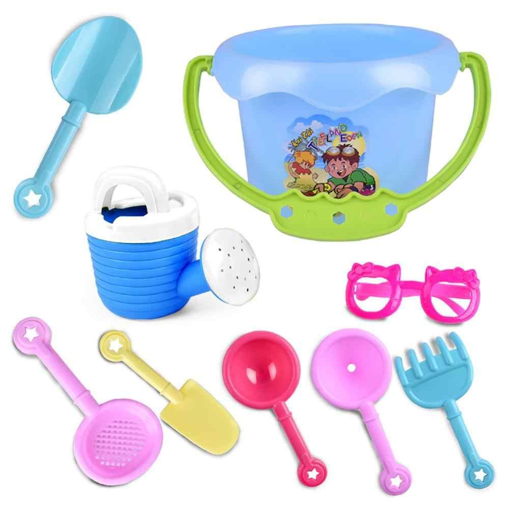Verano Divertido al azar 9 Uds niños pequeños niños al aire libre mar cubo arena playa pala rastrillo agua juguetes Set clásico bebé agua juguete