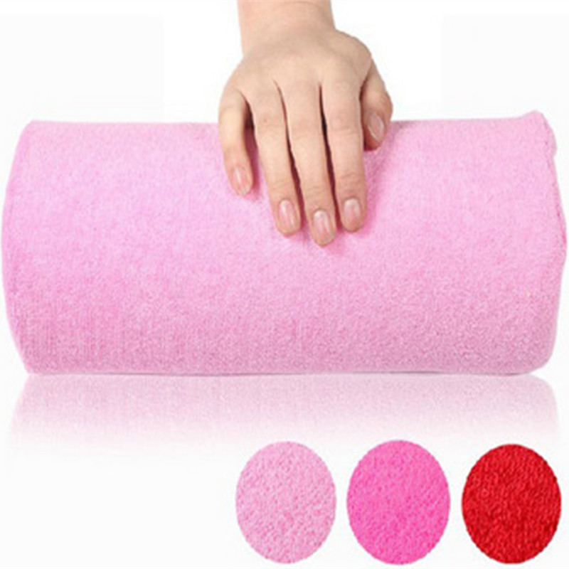 New Soft Cloth Towel Nail Pillow Hand Holder Cushion Table Mat Pad Foldable Washable Salon Manicure Tool Free Shipping