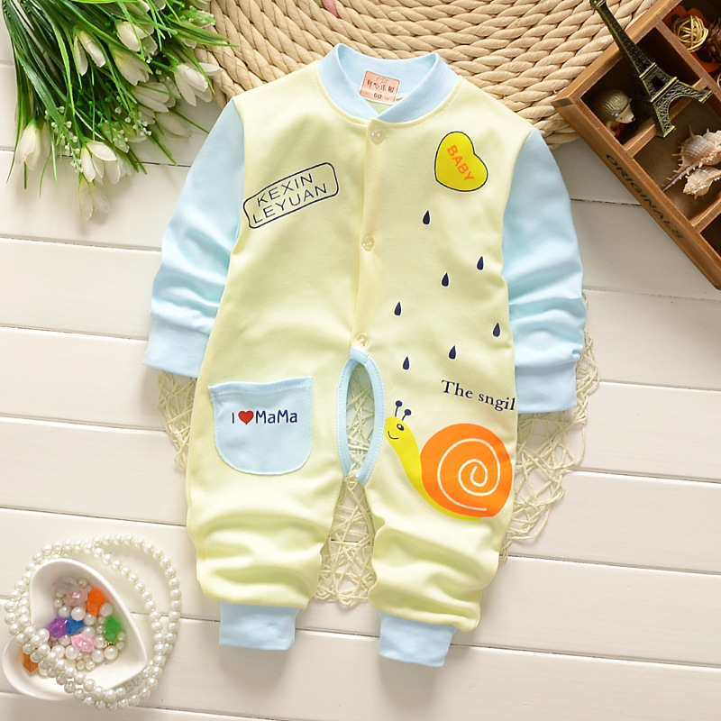 Pure Cotton Baby Boys and Girls Clothing Breathable Soft Bodysuits & One-Pieces Comfortable Rompers Infant Clothes 0-12 Months baby rompers love mama papa boys girls babies clothes newbron cotton clothing with hat one pieces body suit