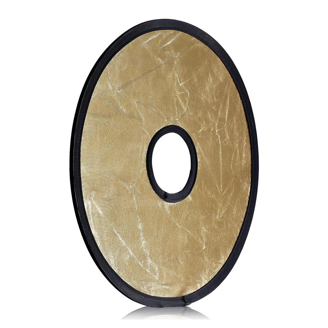 12 30CM 2 in 1 Gold Silver Portable Circular Collapsible Lens Mount Light Reflector