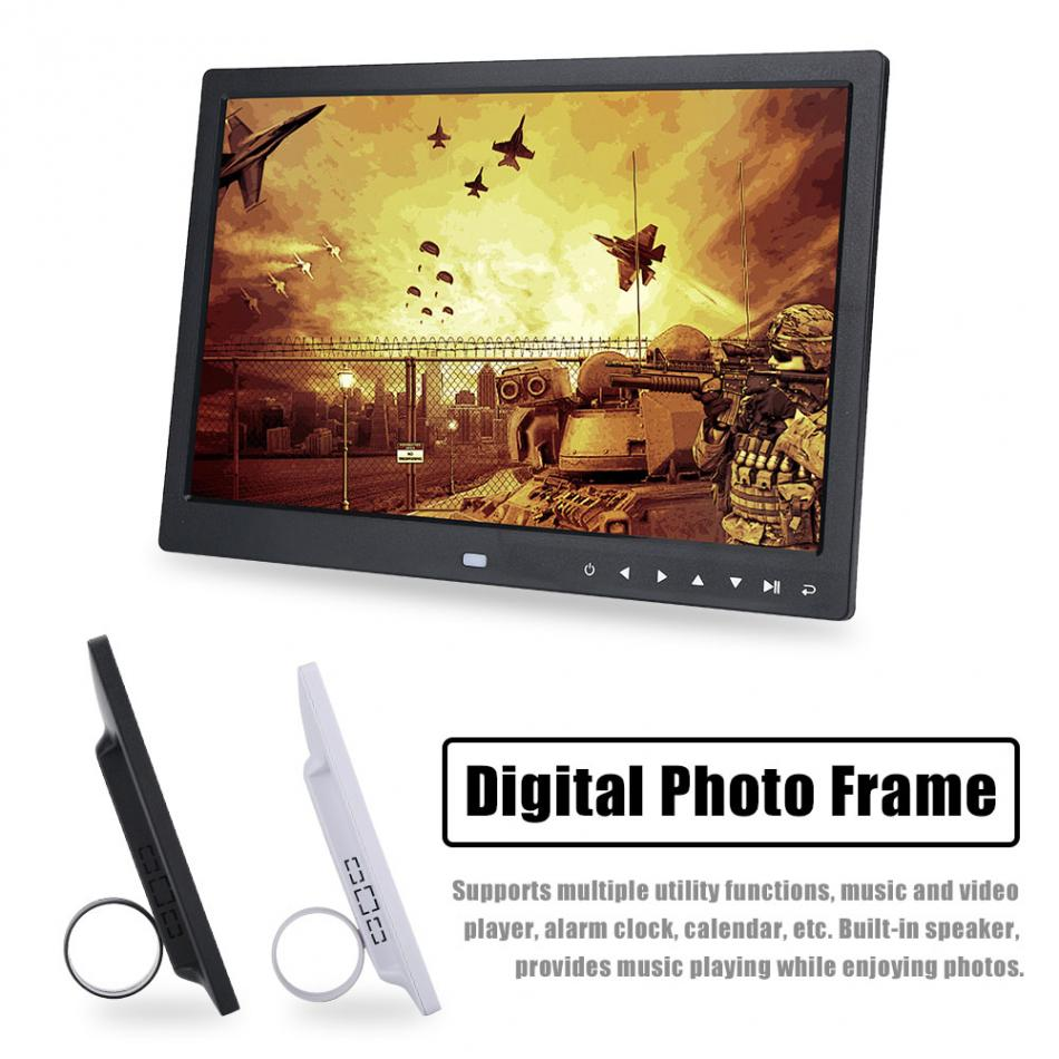 15inch TFT LED HD Touch Screen Digital Photo Frame calendar Alarm Clock MP3/MP4 Movie Player disado 24 frets inlay dots maple electric guitar neck maple fingerboard wood color black headstock guitar accessories parts