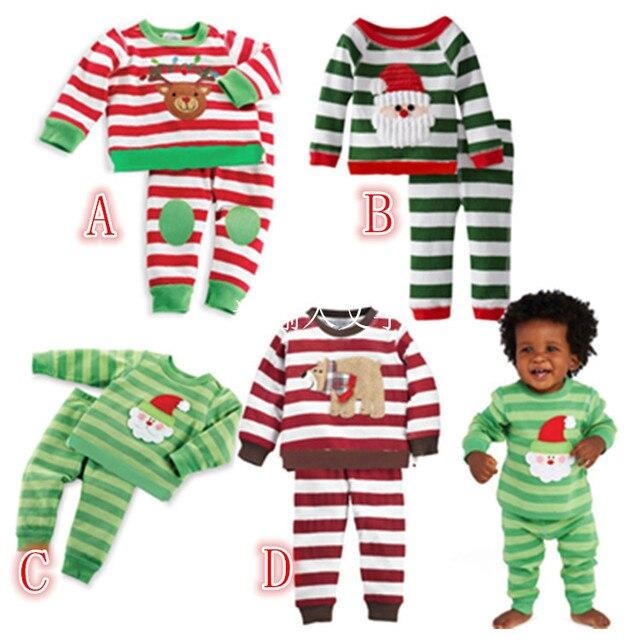 8918f54e2 Navidad para niños pijamas fijan los niños de traje de niño trajes de  navidad bordado de
