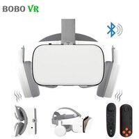 Bobovr z6 atualização 3d óculos vr fone de ouvido google papelão óculos de realidade virtual bluetooth sem fio vr capacete para smartphones