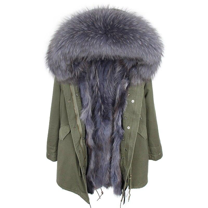 df0c38bac76 OFTBUY зимняя куртка Для женщин натуральным мехом пальто Длинная парка  верхняя одежда парки натуральный мех енота меховой воротник капюшон ли.