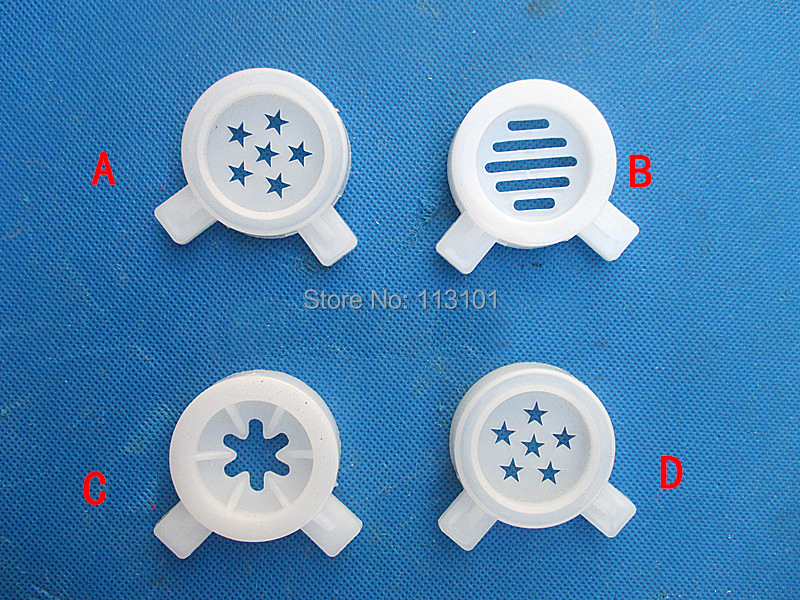 Home Appliance Parts Home Appliances White Color Hexagram Star Modelling Caps Of Ice Cream Machine Spare Part Accessories Wide Varieties