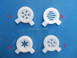 White Color Modelling Caps of Ice Cream Machine Spare Part 4 In One Set Accessories