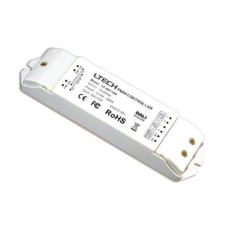 LT-401-12A;CV DALI Dimming Driver;DC12-24V input;12A*1CH+0-10V*1CH output lt 704 5a 4ch cv 0 10v 1 10v dimming driver