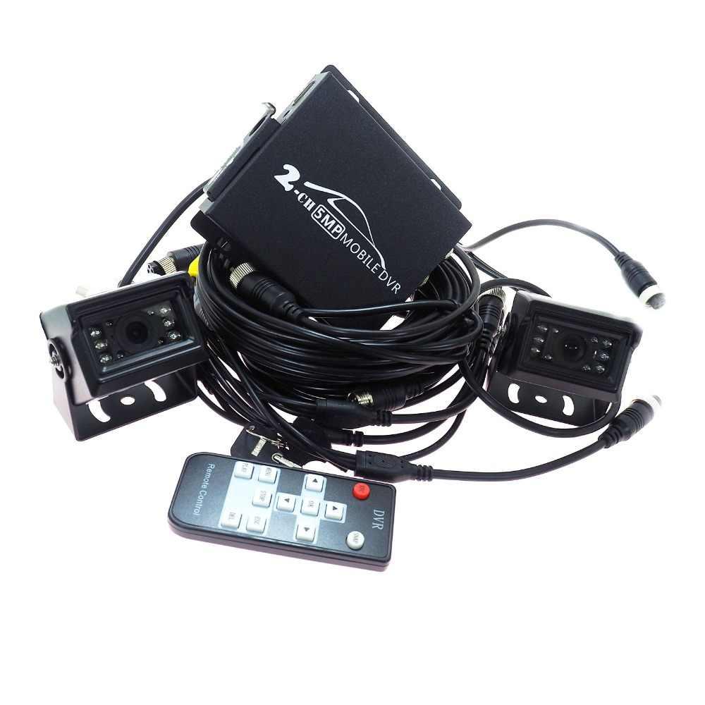 T760 2CH мобильный видеорегистратор с 2 шт. 1080 P AHD камера система видеонаблюдения Автомобильный видеорегистратор комплекты мини-автомобильный видеорегистратор