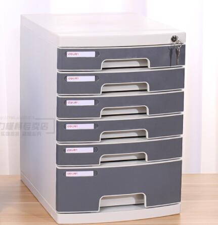 6-layer File Cabinet A4 Plastic Lock File Cabinet