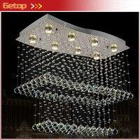 ZX Modern LED Crystal Chandelier Creative Lower Power Eye Protective With 8 Bulbs GU10 For Parlor