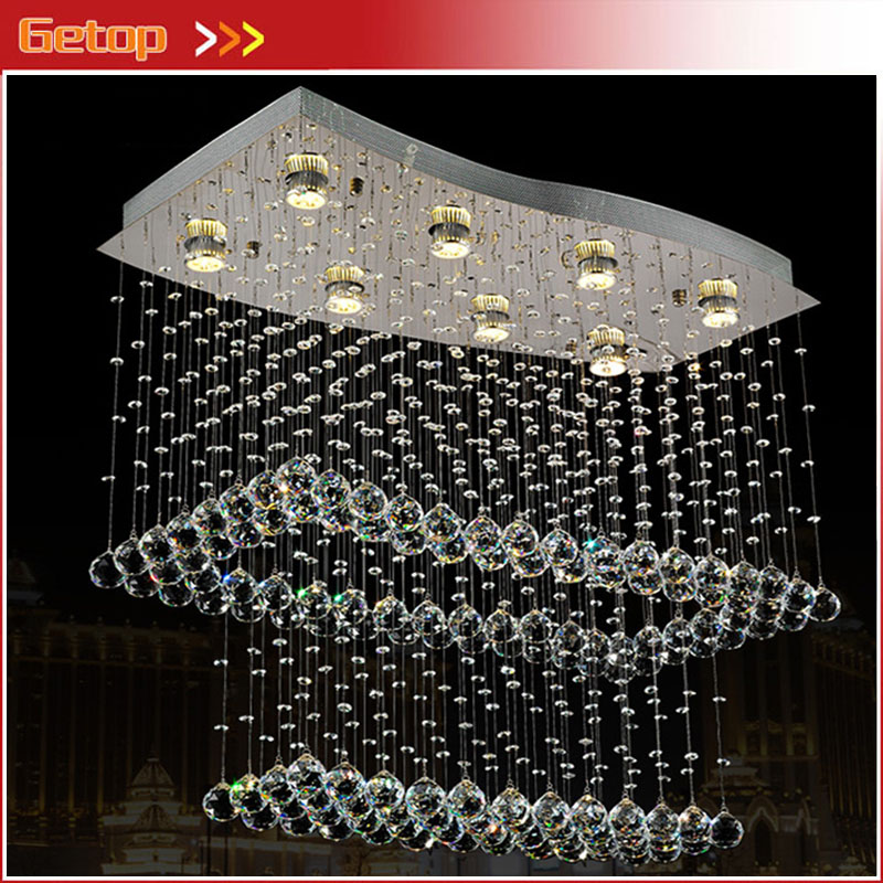 Modern LED Crystal Chandelier Creative Lower Power Eye protective with 8 Bulbs GU10 for Parlor Bedroom Restaurant Lamp|chandelier creative|modern led crystal|creative chandeliers - title=