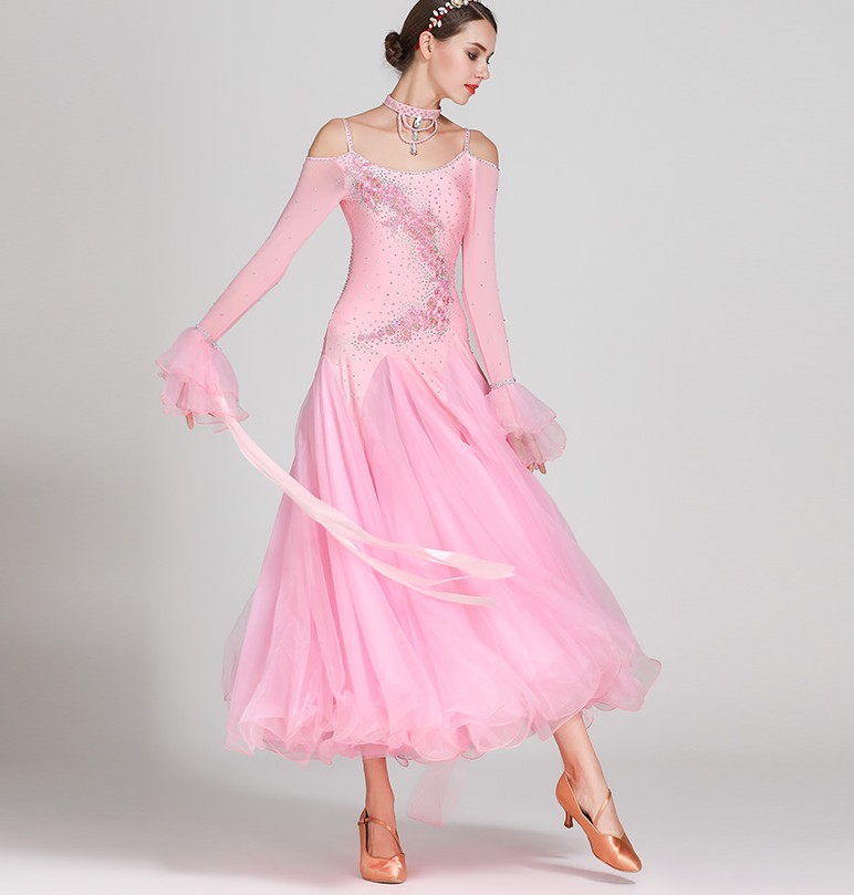 Ballroom Dance Competition Dresses Women/Ballroom Dresses/Ballroom Waltz Dresses/Ballroom Dancing/Waltz Dress S7018