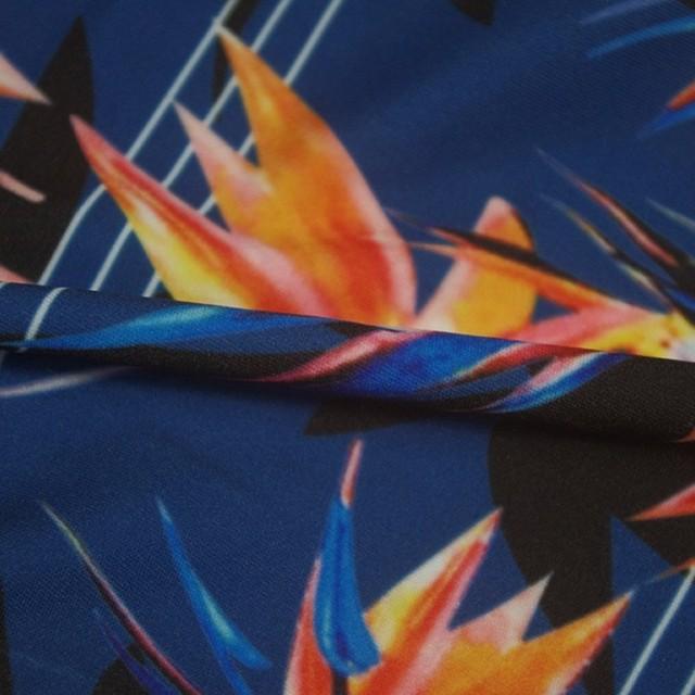 Striped Printed Elastic High Waist Yoga Pants