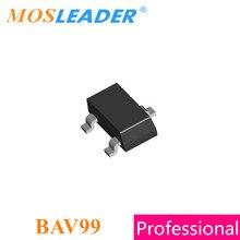 Mosleader BAV99 A7 SOT23 3000 Uds BAV99LT1G 200mA 70V hecho en China, diodos de conmutación de alta calidad