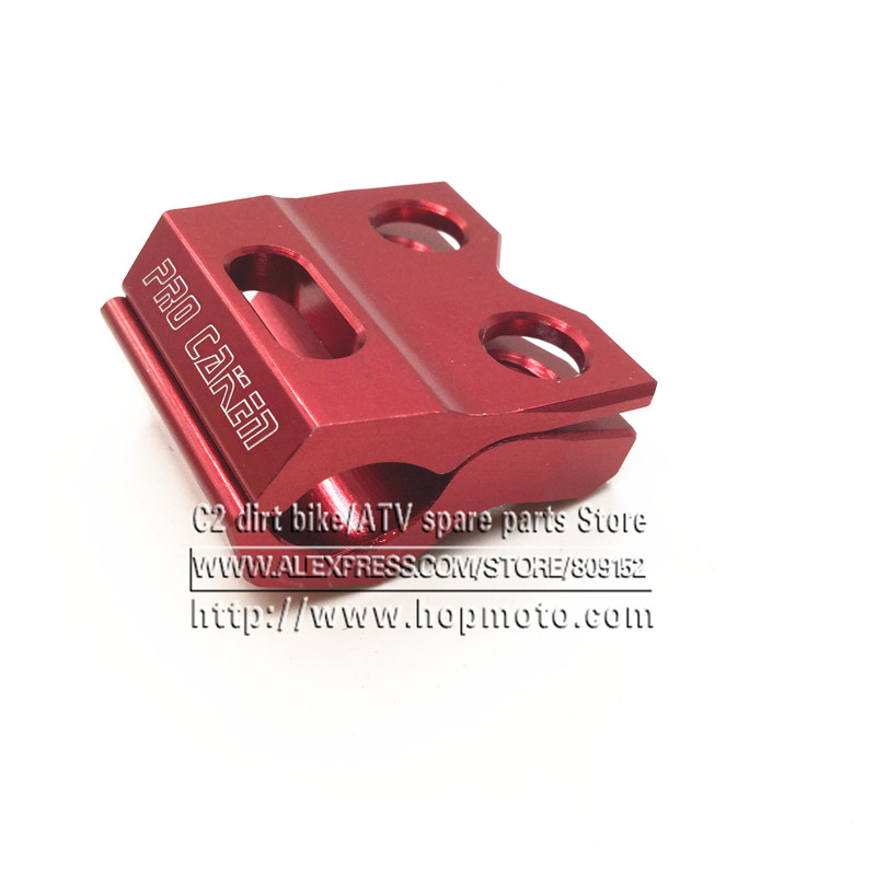 NEW CNC Brake Line Hose Clamps Holder CR125 250 CRF 250R X 450R X 250L M Motocross Supermoto Enduro Dirt Bike Off Road for honda crf 250r 450r 2004 2006 crf 250x 450x 2004 2015 red motorcycle dirt bike off road cnc pivot brake clutch lever