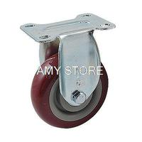 Hand Trolley Part Plastic Core PVC Single Wheel Flat Plate Fixed Caster 4 100mm