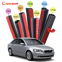 Car Four Door Hood Trunk Sealing Strip Kit Weatherstrip Noise Insulation Rubber Seal Edging Trim For