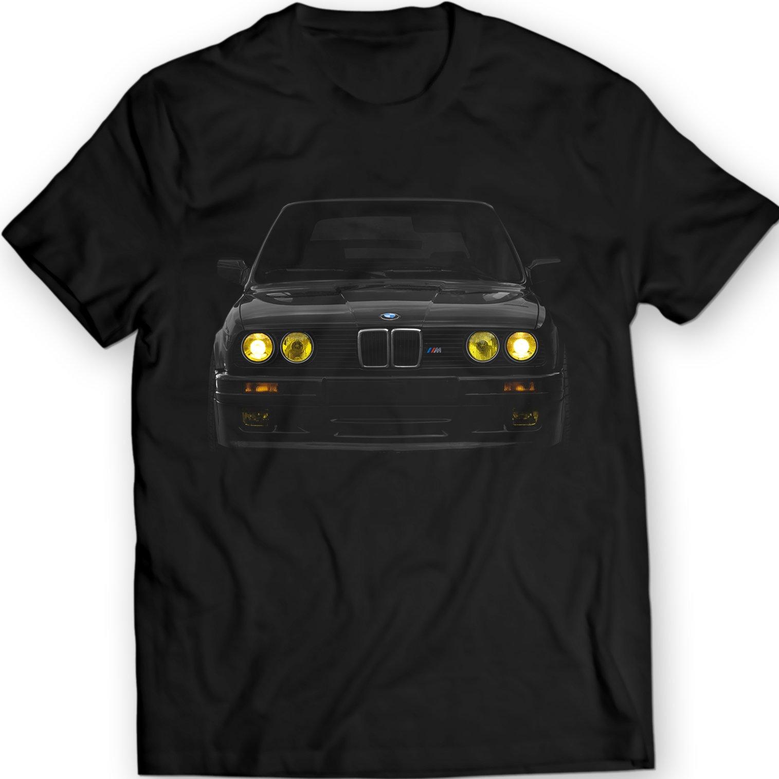 2019 New Cool Tee Shirt Germany Car E30 Yellow Headlights T-Shirt Power Bimmer M5 M3 100% Cotton Holiday Gift Birthday T-shirt Футболка