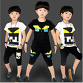 Summer Trainingspak Kids Handsome Children Clothing Set Short Boy Clothes Casual Kids Hip Hop Clothing Fashion Sports Suit