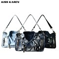 KISS KAREN Vintage Fashion Denim Women Bag Jeans Women Shoulder Bags Cowboy Handbags Women's Crossbody Bags Satchels Lady's Bag