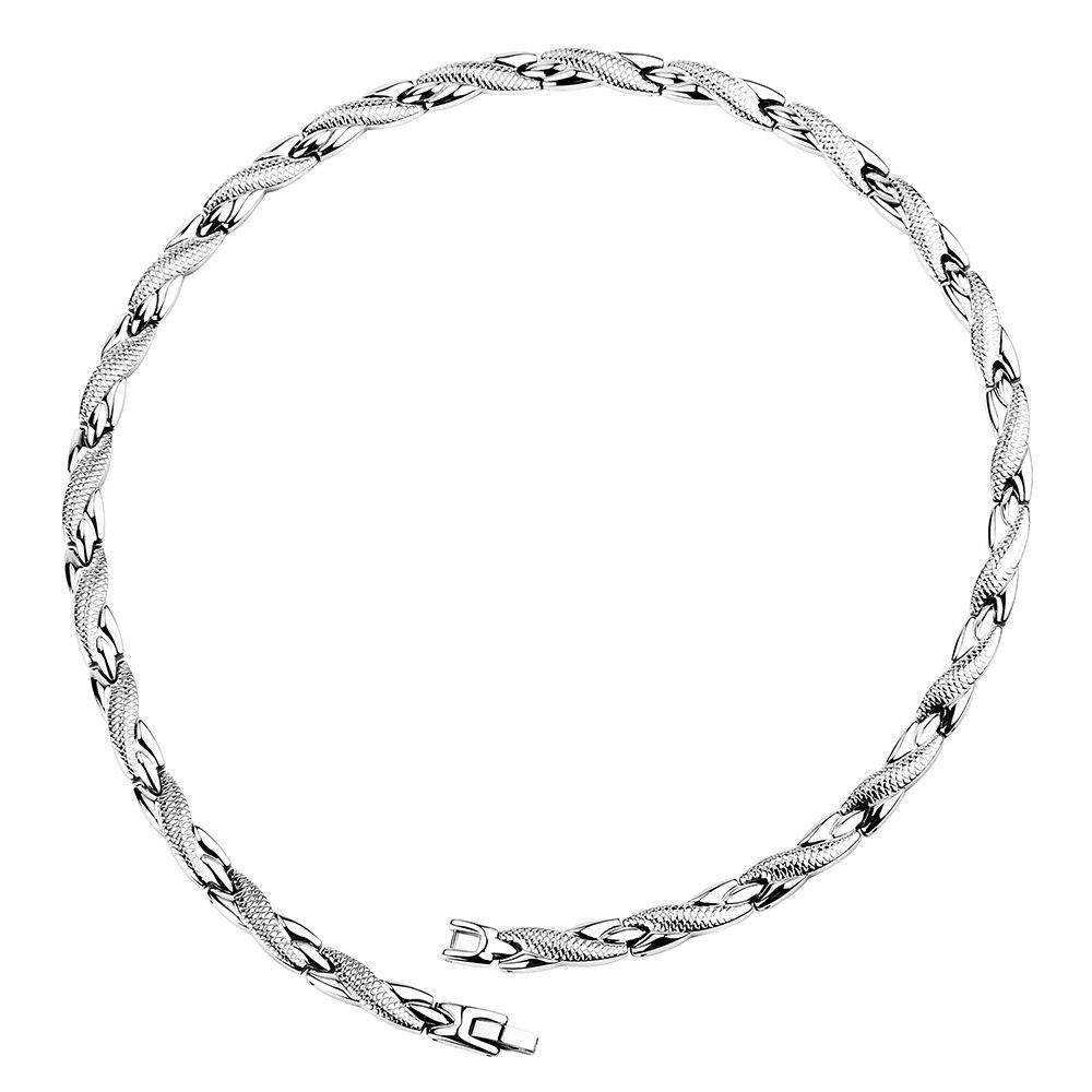 Hottime collier d'énergie magnétique en acier inoxydable colliers de puissance de guérison bijoux de santé pour les femmes thérapie magnétique pour l'arthrite