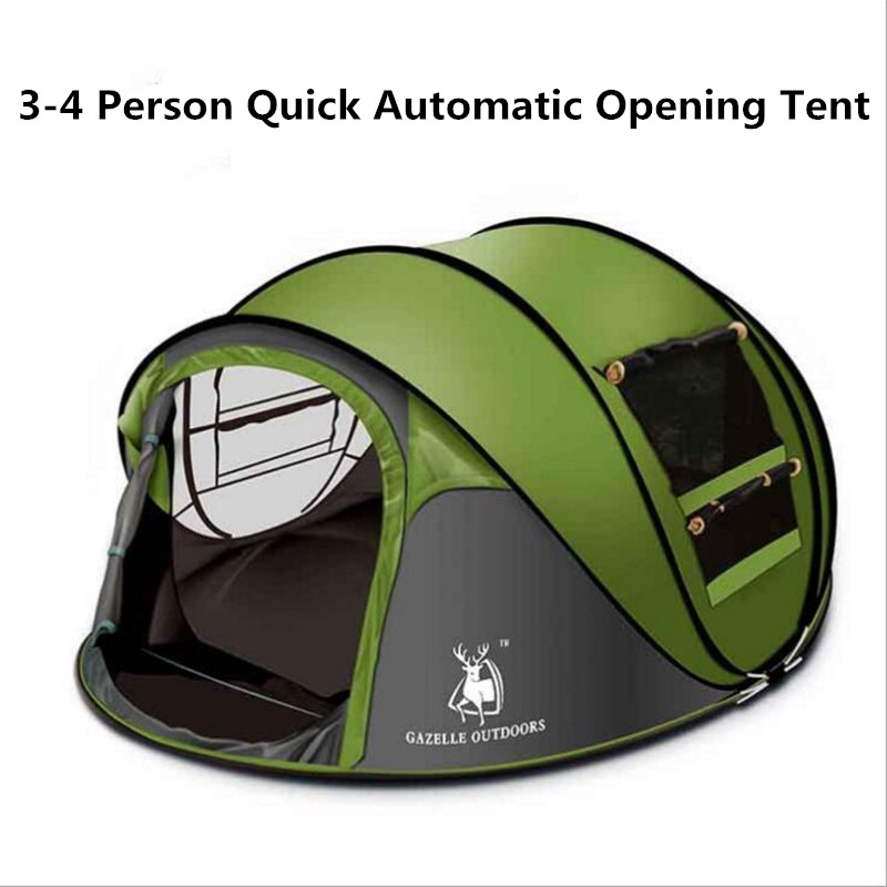 3-4 Person 290*200*130cm Ultralight Single Camping Tent Waterproof UV Outdoor Hiking Tents Beach Fishing Tent China Shop Online outdoor waterproof folding ultralight camping tent 1 2 person double door fishing tourist tent beach tent hiking family tent