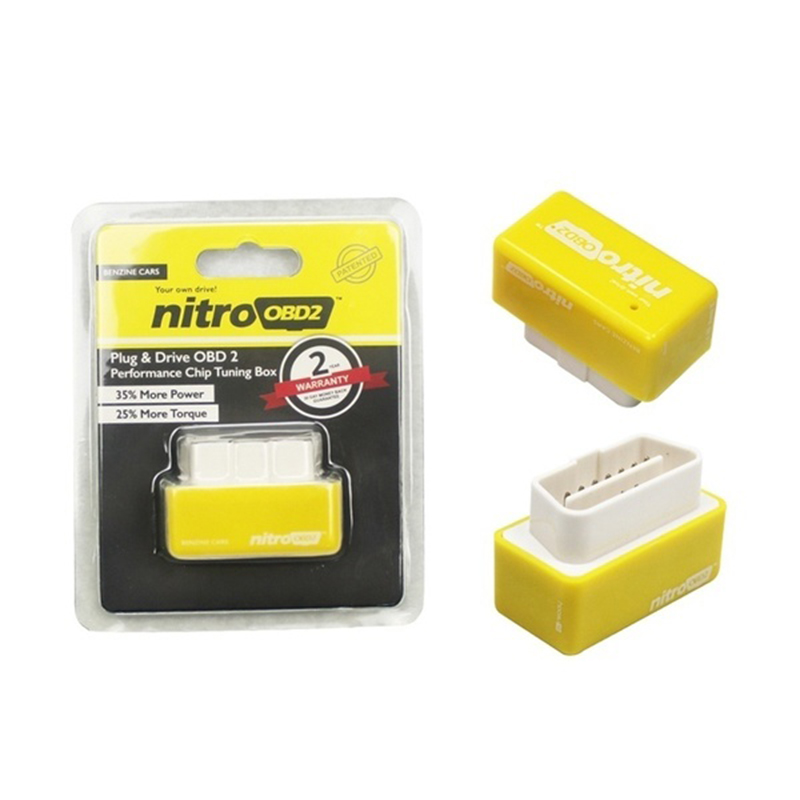 Nitro OBD2 Performance Chip Tuning Box Plug and Drive For Cars