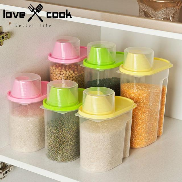 Beau Food Grade Plastic Grain Storage Box Dried Food Cereal Storage Container  Dispenser Rice Container Box Food