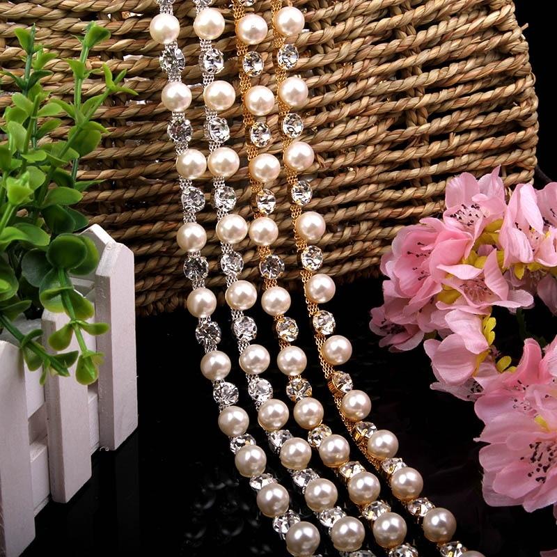 Livraison gratuite 10 mètres strass perle chaîne mariée ceinture strass Applique, Applique de mariage, strass coupe LSRT073-in Strass from Maison & Animalerie    1